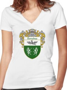 Donahue Coat of Arms/Family Crest Women's Fitted V-Neck T-Shirt