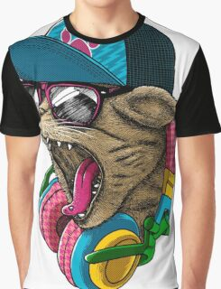 Cool Cat Shirt Youth T Animal Pet Kids Amazing Items Sunglasses Lover Gift Headphones Head Biker Tee Garfield Sublimation Licensed Graphic T-Shirt