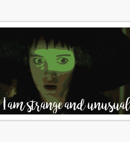 Strange and Unusual Sticker