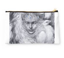 Fairy lady with white peacocks. Studio Pouch