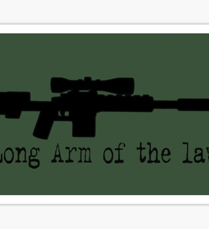 Long warm of the law! Sticker