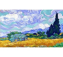 wheat field with cypresses by vincent van gogh Photographic Print