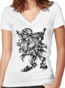 A little help from friends Women's Fitted V-Neck T-Shirt