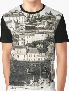 Harbour Houses - Cornwall Graphic T-Shirt