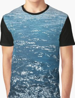 Wavy Blue Sea Water Twinkling under Summer Sun Graphic T-Shirt