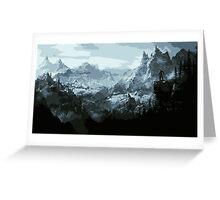 The Land of Skyrim Greeting Card