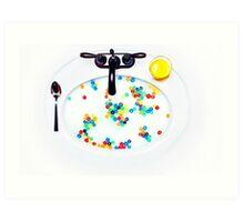 Cereal Sink Art Print