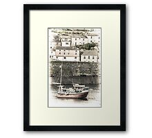 Fishing Boat in Harbour - Cornwall Framed Print
