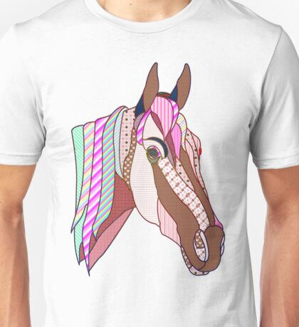 Horse Patchwork love style  Unisex T-Shirt