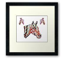 Horse Patchwork love style  Framed Print