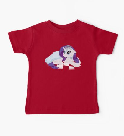 White Queen Rarity on white checkers Baby Tee