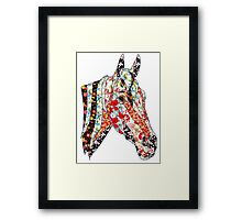 Horse Patchwork cool style  Framed Print