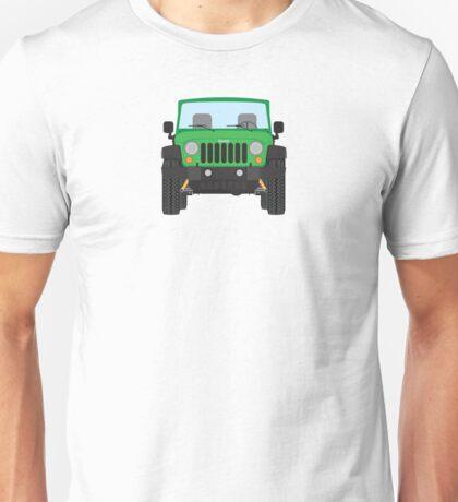 Jeep Wrangler (green) Unisex T-Shirt