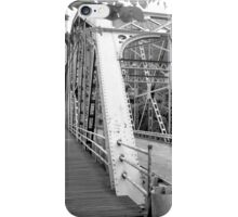 Brattleboro Truss Bridge B&W iPhone Case/Skin