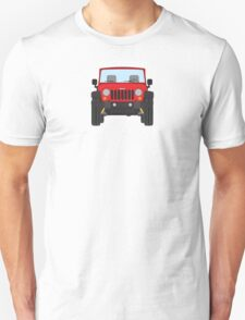Jeep Wrangler (red) Unisex T-Shirt
