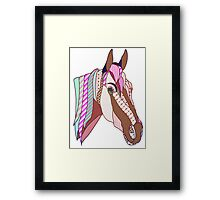 Horse Patchwork style  Framed Print