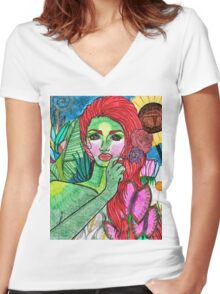 Mother Nature(ish) Women's Fitted V-Neck T-Shirt