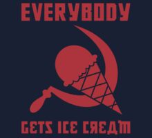 Everybody Gets Ice Cream - Red One Piece - Long Sleeve