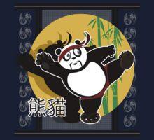 Martial Arts Panda - White Kids Tee