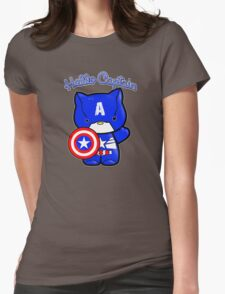 Captain meow  Womens Fitted T-Shirt