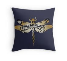 Ouija Dragonfly Purple Throw Pillow