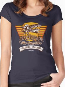 McQuack Air Charters Women's Fitted Scoop T-Shirt