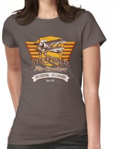 McQuack Air Charters Womens Fitted T-Shirt