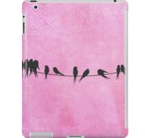 Pink coral Birds On A Wire iPad Case/Skin