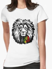 Lion Tuff Lion Head Womens Fitted T-Shirt