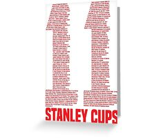 11 Stanley Cups Greeting Card