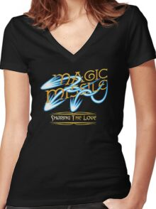 D&D Tee - Magic Missile Women's Fitted V-Neck T-Shirt