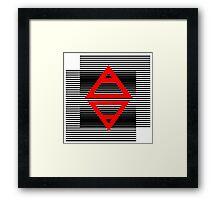 Air&Earth (AV) Striped Framed Print