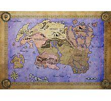 Elders Scrolls map in Ink - COLOR Photographic Print