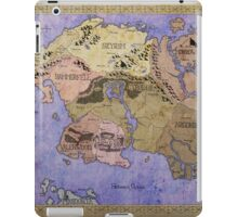 Elders Scrolls map in Ink - COLOR iPad Case/Skin