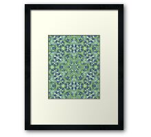 Green Lace Pattern Framed Print