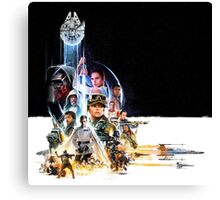 Star Wars VII and Rogue One Canvas Print