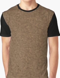 Beige Brown Cell Camo  Graphic T-Shirt