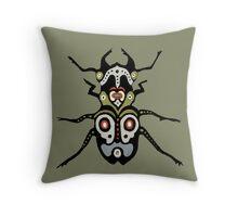Bone Beetle Throw Pillow