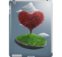 Heart tree on suspended rock iPad Case/Skin