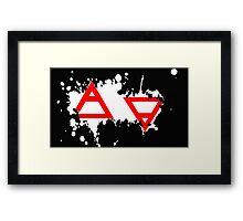 Air&Earth (AV) Splatter Framed Print