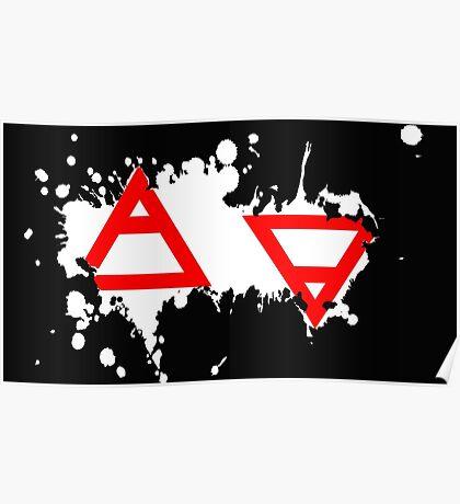 Air&Earth (AV) Splatter Poster