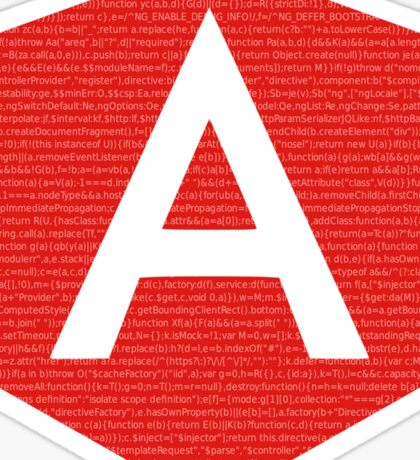 AngularJS with code background Sticker