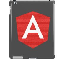 AngularJS with code background iPad Case/Skin