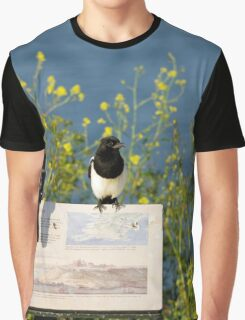 Magpies Keeping Watch, Pendennis Point Graphic T-Shirt