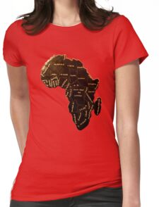 Africa the most beautiful continent Womens Fitted T-Shirt