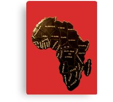 Africa the most beautiful continent Canvas Print