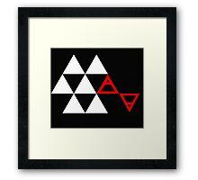 Air&Earth (AV) Pyramid Framed Print