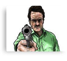Breaking Bad - Walter White (Colour) Canvas Print