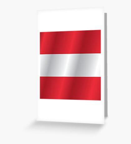 Austria flag Greeting Card