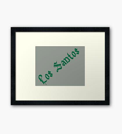 GTA - Los Santos - Grey and green Framed Print